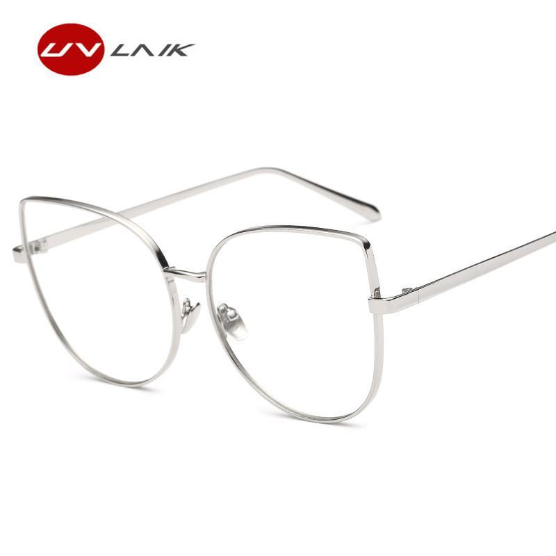 00c7037c78 UVLAIK Cat Eye Glasses Frame Transparent Spectacle Frame HD Clear  Sunglasses Women Cat s eye Optical Glasses Eyewear