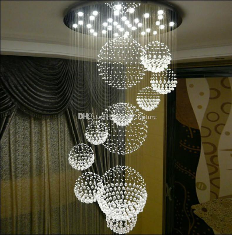 acheter lustre moderne k9 cristal gouttes de pluie lustre. Black Bedroom Furniture Sets. Home Design Ideas