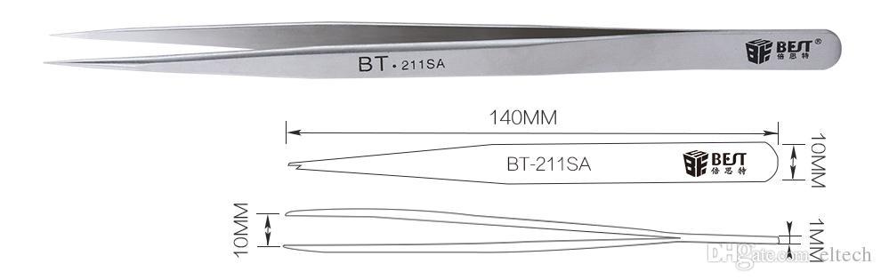 Pinzette antistatiche Strumenti di manutenzione ESD Eyebrow Eye False Eyelash Make Up Strumenti di trucco Accessori Strumento