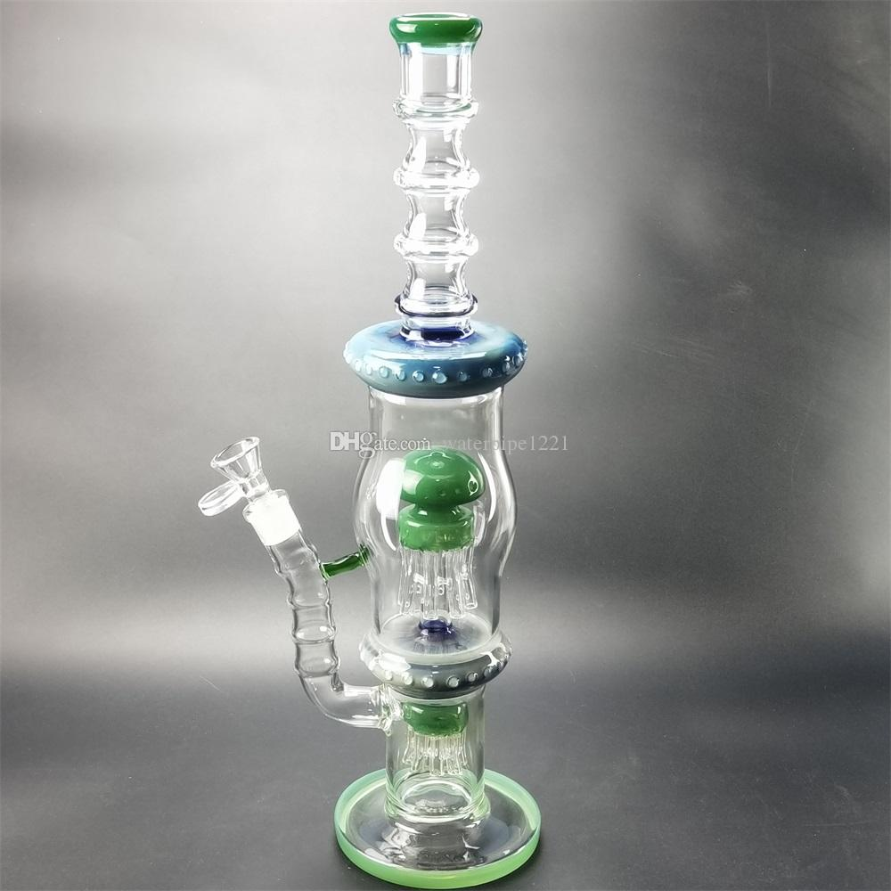 Vortex state recycler glass water pipe triple cyclone inner sleeve unique light tap equipment with 14 mm union thick oil drilling tower purp