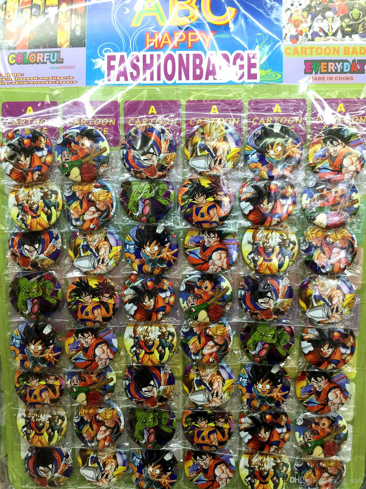 1ae57650174 2019 Dragon Ball Z  B Style 4.5 CM Set PIN BACK BADGES BUTTONS NEW FOR  PARTY CLOTH BAG GIFT ANIME CARTOON GAME MOVIE COLLECTION From Sea of stars