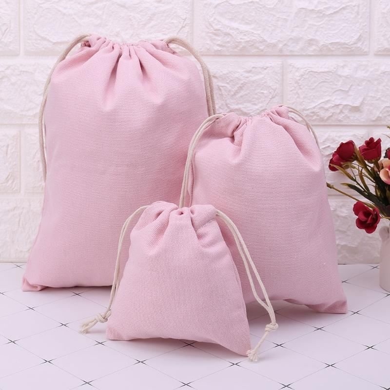 2019 THINKTHENDO Women Drawstring Sack Bag Beam Storage Clothes Bags  Shopping Travel Gifts Pink S M L Drawstring Bags From Coldend 55fdbe48c