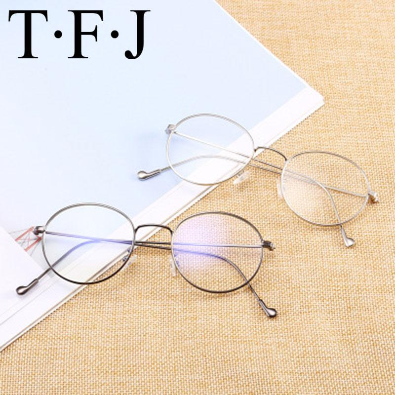 236a8d46b14d Anti Blu Ray Women Glasses Frame Optical Round Metal Frame Nearsightness  Glasses Protection For Computer Spectacles Men UK 2019 From Poety