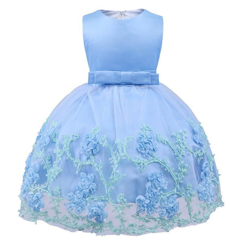 01babd73c95dc Acheter 2018 Bébé Fille Robe 1 2 Ans Bébé Filles Robes D anniversaire Robe  Partie Princesse Balle Enfant En Bas Âge Pour La Robe De Fête De Mariage De  ...