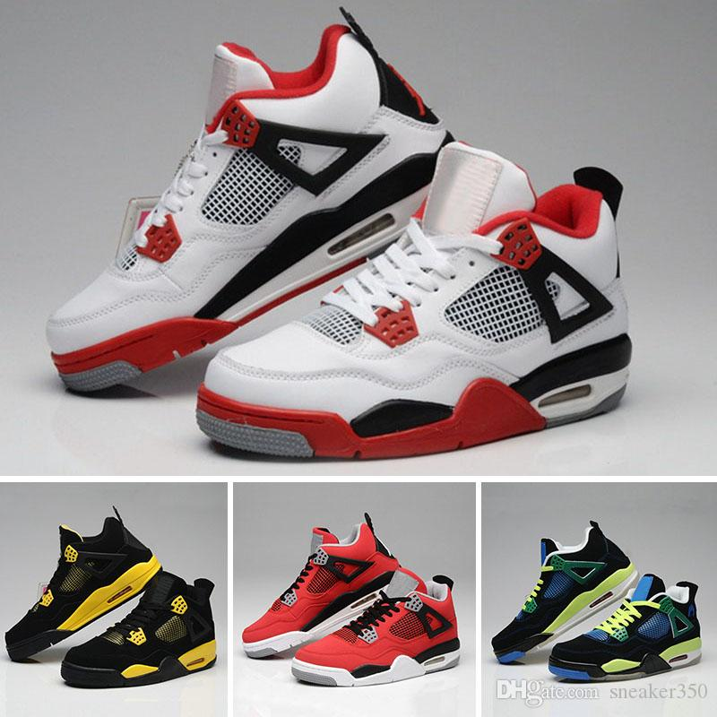 reputable site 9d4c3 cd542 Großhandel Nike Air Jordan 4 Aj4 Retro 2018 Männer 4 Basketballschuhe Militär  Motosports Blau Alternative 89 Pure Money White Zement Royalty Gezüchtet  Fire ...