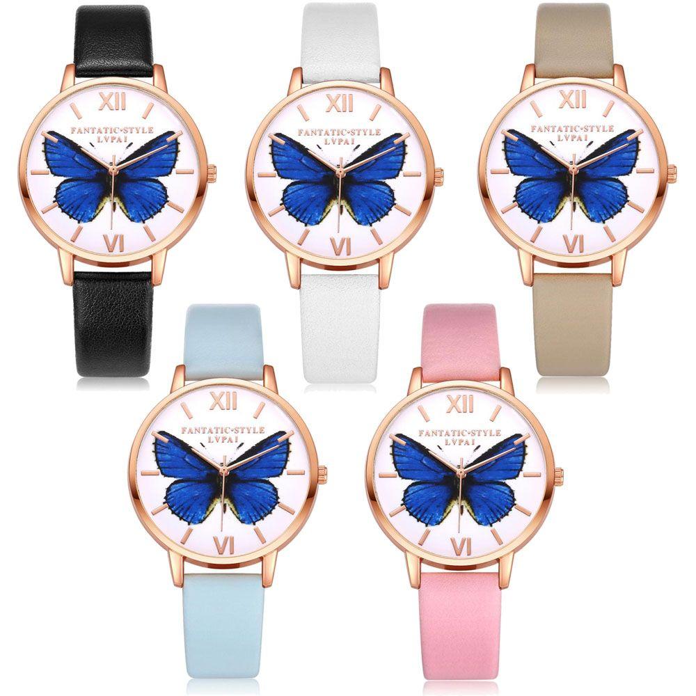 Hot Sale Lvpai Luxury Brand Women Bracelet Watch PU Leather Butterfly  Quartz WristWatches Women Dress Watches Christmas Gift Buy Online Watch Buy  Wrist ...