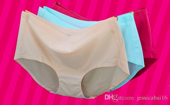 New sexy one piece seamless underwear, ladies' waist, pearlescent ice silk lady's underwear, ladies' briefs, wholesale.