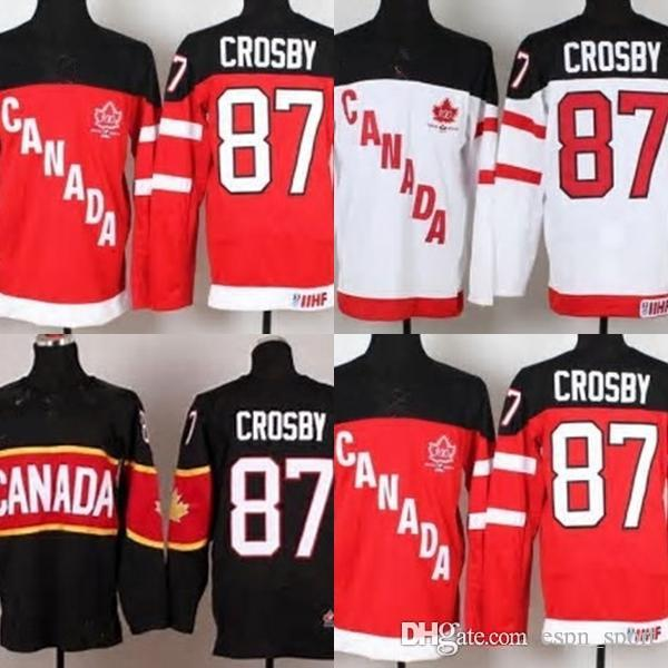 2019 Hot Sale Mens 87 Sidney Crosby Black Red White Cheap Best Quality Full  Embroidery Logos Ice Hockey Jerseys Accept Size S 3XL From Espn sport 614c2e20f