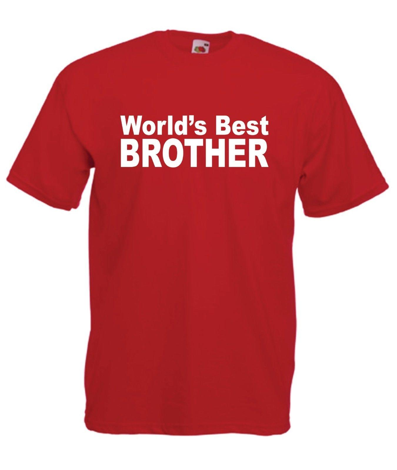 fc0a4d6768 WORLDS BEST BROTHER Christmas Birthday Present Gift Top Ideas Mens Womens TSHIRT  Best Tshirts Cool T Shirts Online From Mycarperformance, $11.01| DHgate.Com