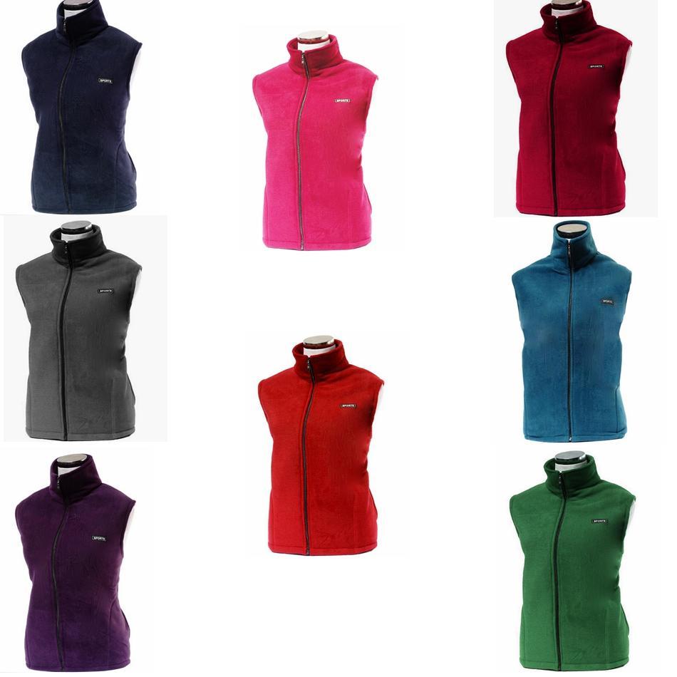 qualité stable bonne texture vaste sélection Polaire sans manches vestes Sherpa pull femme Cardigan solide veste polaire  polaire manteau zipper pull épais vestes d'extérieur GGA1009