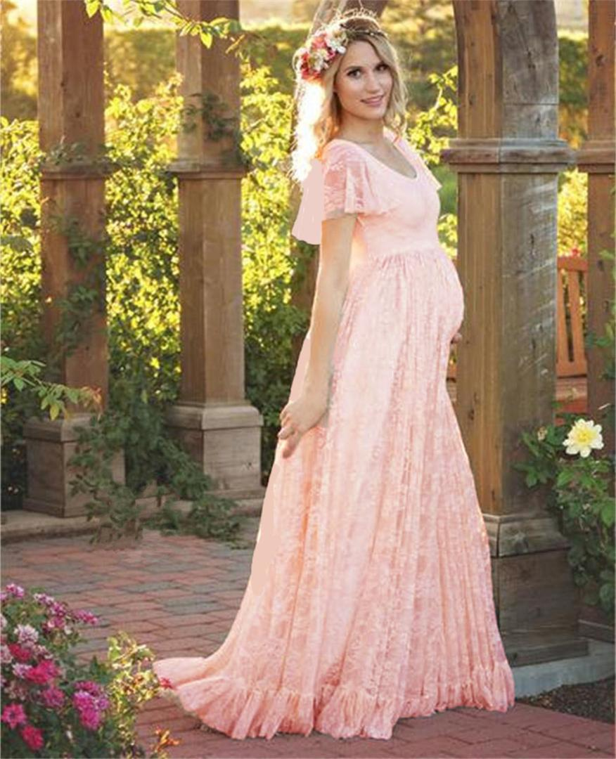 2018 2018 Plus Size Maternity Dresses For Photo Shoot Fashion Lace ...