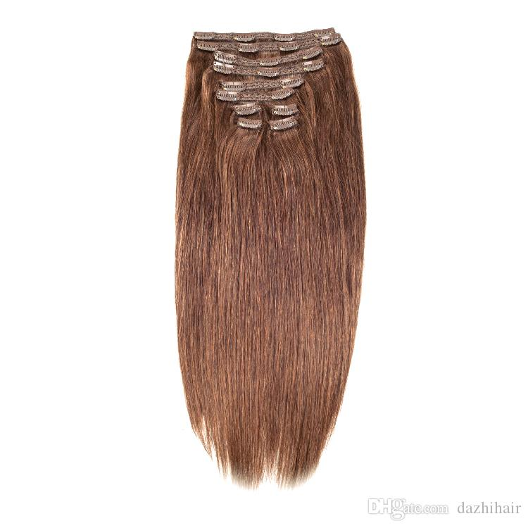 Factory Direct Free Double Drawn 14 26 200g Clip In Remy Human Hair