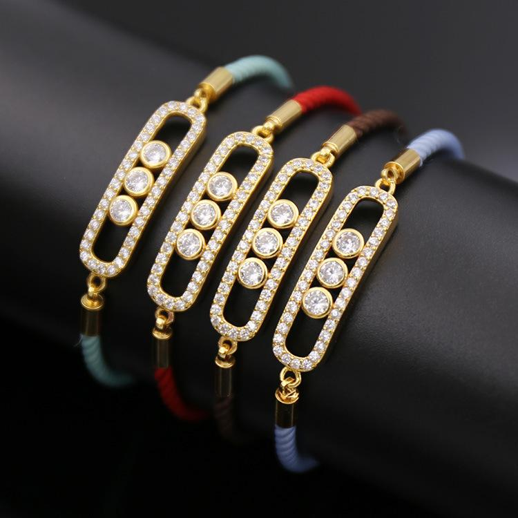 2019 Women S Bracelets Hot Accessories Fashion Shaped Three Diamonds  Imported Rope Copper Micro Set Telescopic Bracelet From Upup upup2 7968110e1c