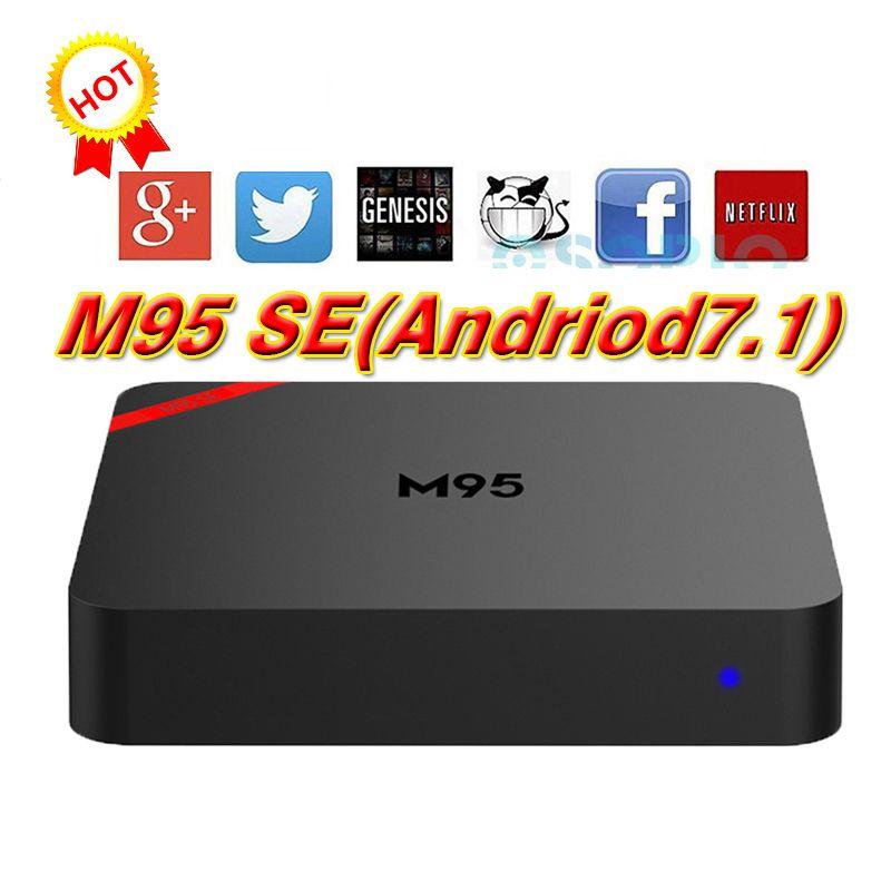 2018 M95 SE Android TV Box Quad Core RK3229 1GB 8GB Krypton 4K Android 7 1  Media Player BETTER IPTV TX2 X96 MXQ PRO