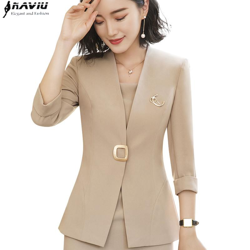 1e57364372a Professional Blazer Female 2018 New Fashion Temperament Summer Half ...