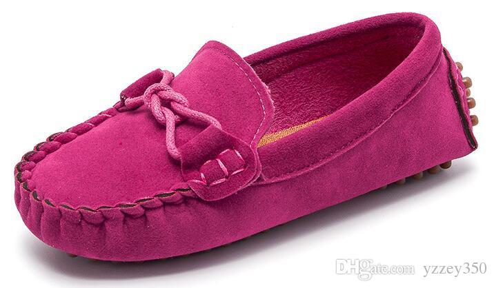 Taille 21 35 Bébé Chaussures Enfant Nouveau Printemps Été Enfants Doux En Cuir PU Casual Chaussures Garçons Mocassins Filles Mocassins Chaussures
