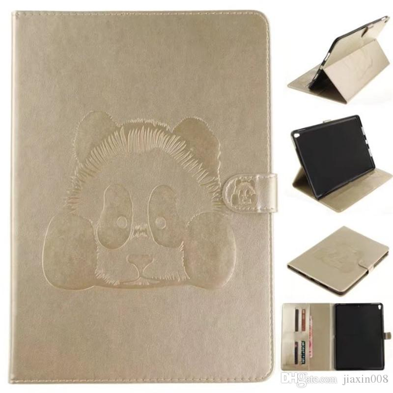 "Tablets Case Funda For iPad Pro 10.5 inch Covers Cases PU Leather Wallet Bag Card embossing Panda For iPad Pro 10.5"" Tablet"