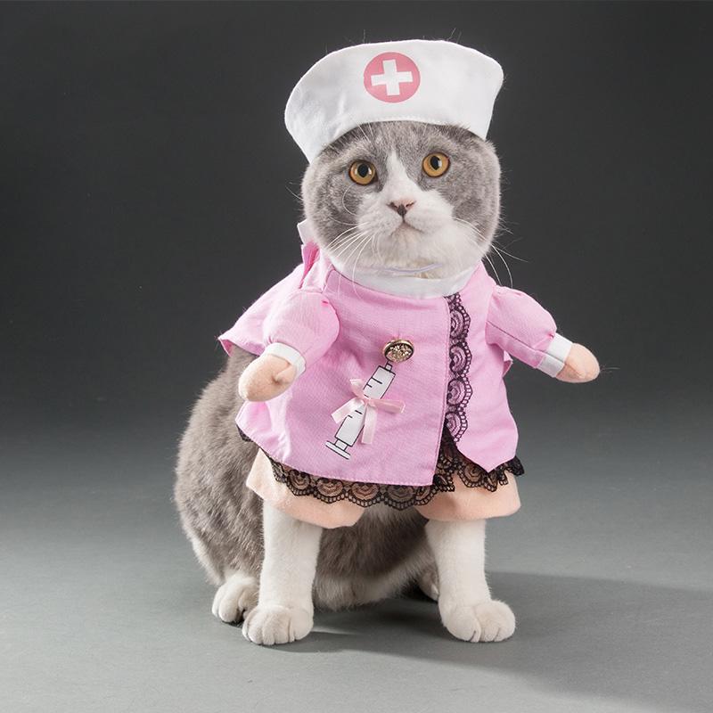 Petits Pour Robe Halloween Chat Produits Infirmière Costume Chats Vestito Drôle Canne Vêtements Chiens Vetement Animaux MUzqSVjLGp
