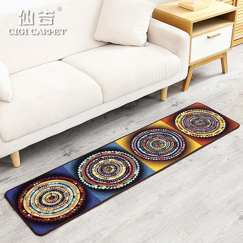 CIGI Moderno stile folk cinese di moda lungo tappetino camera da letto  tappeto cucina bagno finestra anti scivolo piede tappetino mobili