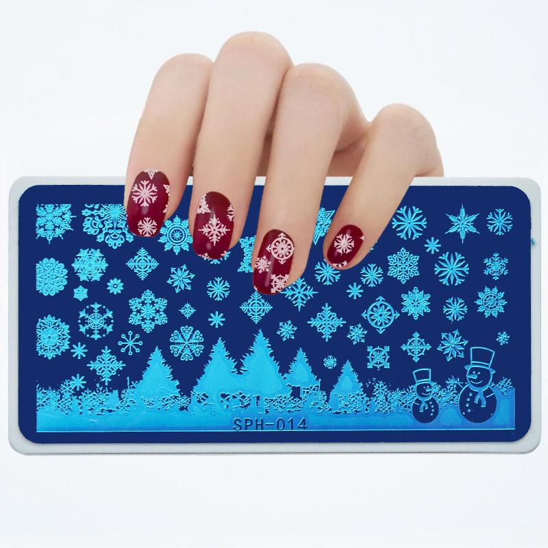 Sph Series 612 Cm Nail Stamping Plate Template Spiderlittle Witch