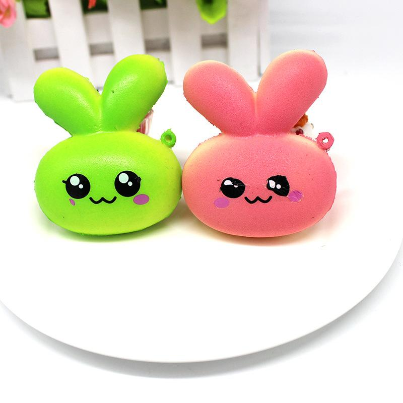 New arrival Jumbo Cute Squishy Rabbit Slow Rising Toy Bag Gift Collection Animal Anti stress toy