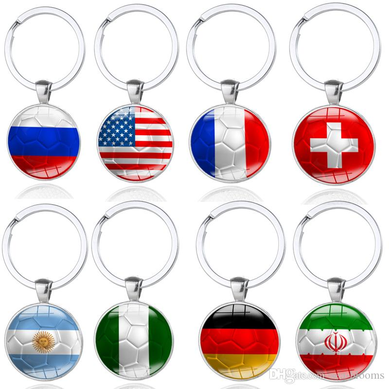 New 2018 World Cup Football Keychain Russia Argentina Switzerland Flag  Soccer Keyring Souvenir Football Fans Keychain G206S World Cup Football  Football Fans ... e8a2c2e3a