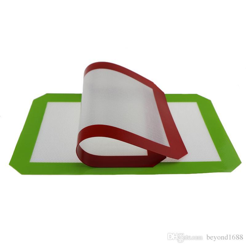 Antihaft-Silikon-Tupfmatten für Wachs 30cm x 21cm 11,81 x 8,27 Zoll Silikon-Backmatte Tupfenöl backen trockenes Kraut