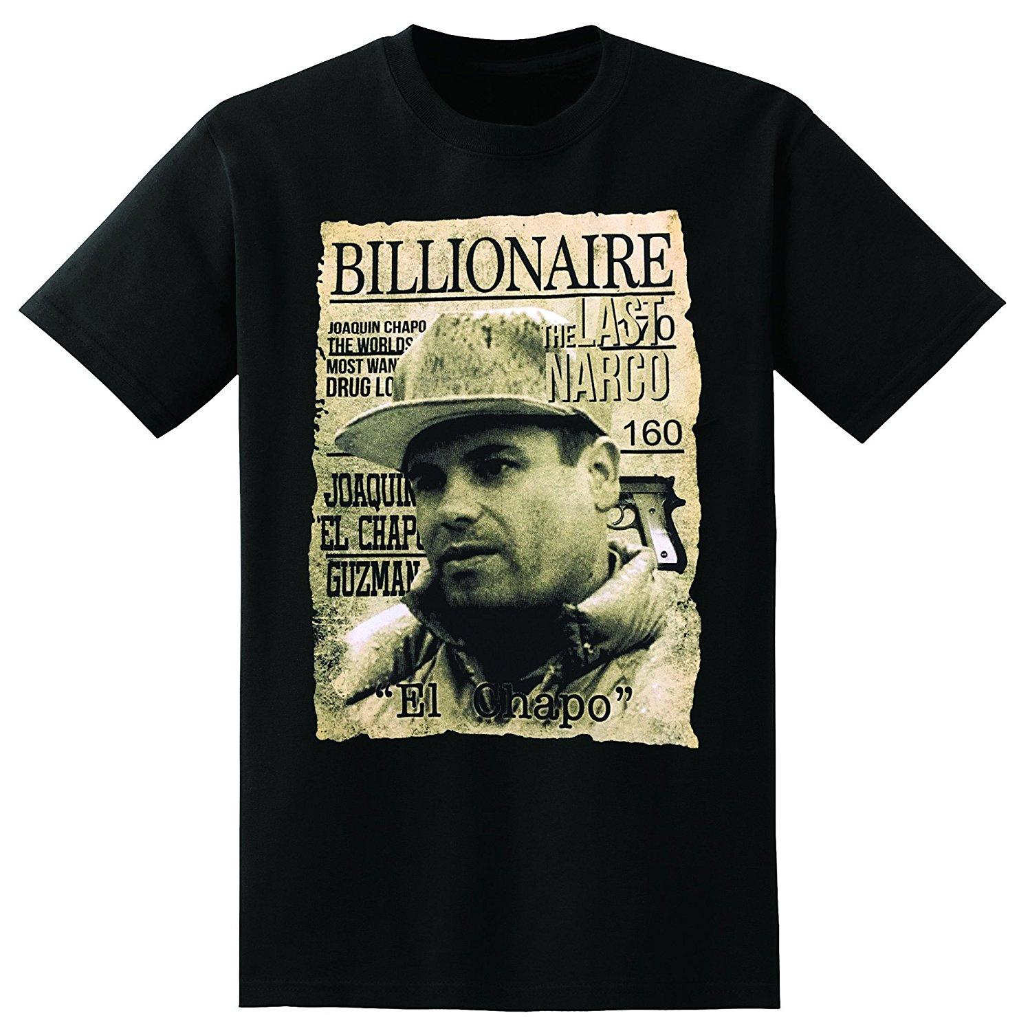 Back To Search Resultsmen's Clothing T-shirts Anime Print Tee El Jefe The Bos Juar O Narco Most Wanted Short Sve Mens T-shirt S-5xl O-neck Streetwear Tees