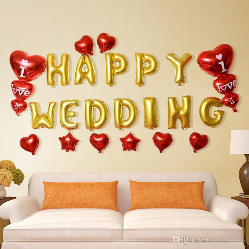 أنا أحب U الأبجدية الهواء بالونات حفل زفاف الديكور الأحمر 3 ملون مايلر احباط بالون بالونات كبيرة إلكتروني المنزل diy dhl شحن
