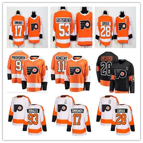 2019 2019 Philadelphia Flyers Jerseys 28 Claude Giroux Jersey 17 Wayne  Simmonds 53 Gostisbehere 19 Nolan Patrick 93 Voracek 11 Konecny 9 Provorov  From ... be86b025c