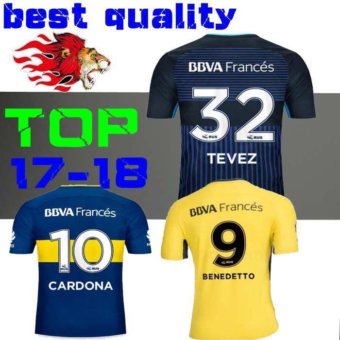 72432a5d4 Thai Quality 2017 2018 Boca Juniors Soccer JerseyS 17 18 GAGO ...