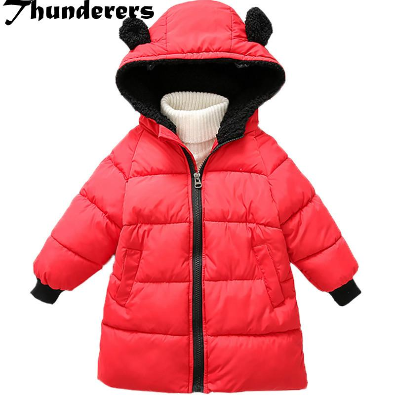 039317f5b98d 2018 Snowsuits Girls Boys Down Coat Fashion Winter Hooded Medium ...