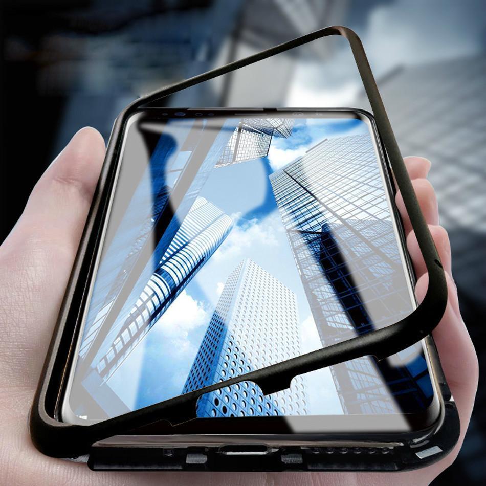 c7010563438 Accesorio Para Celulares Caja Del Teléfono De La Adsorción Magnética Para Samsung  Galaxy S9 S8 S7 S7 Edge Plus Note 9 8 Metal Imán Protector De Pantalla De  ...