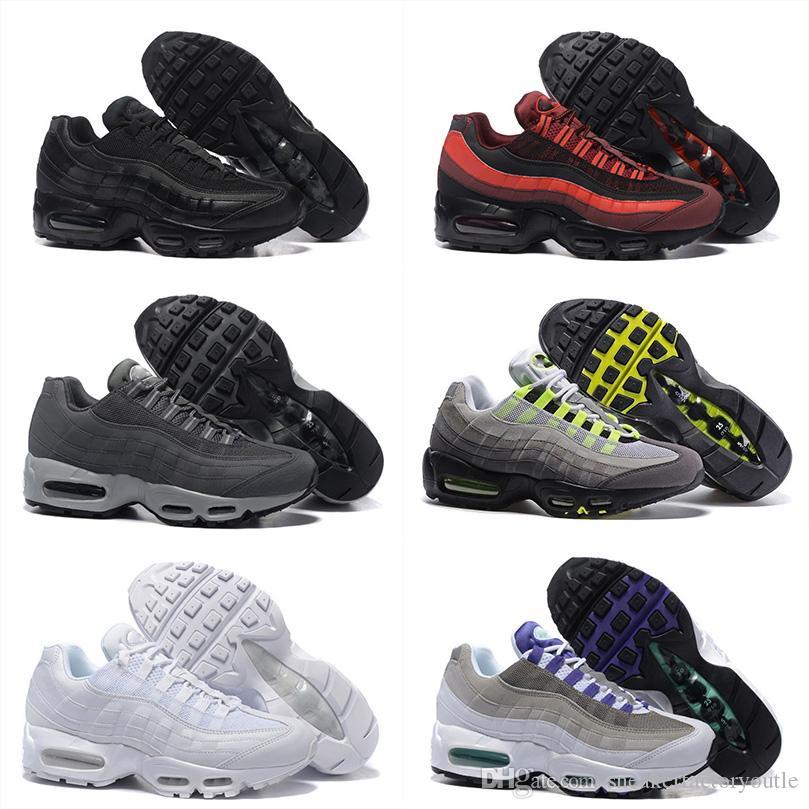 competitive price 20f1e a69fe Acheter Pas Cher Classique Coussin 95 OG Chaussures De Sport Chaussures De  Course Pour Hommes Authentique 95s Entraîneur De Tennis Baskets Respirant  Taille ...