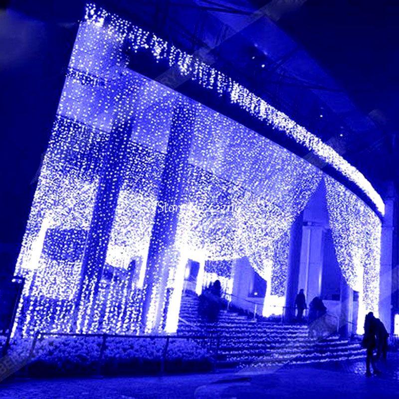 bf09ea7b455 Compre 8x4m Luces De Cortina De Navidad Al Aire Libre Guirnaldas Cascada  Luces LED Luces De Cadena Impermeable Del Banquete De Boda Home Garden  Decoration A ...