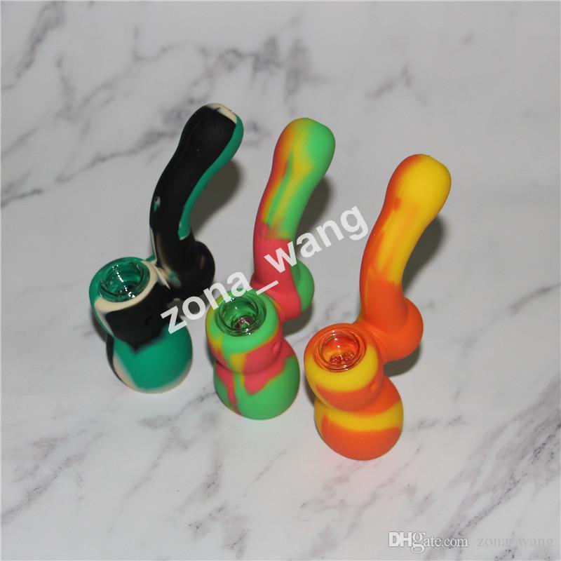 Бесплатная доставка силиконовые водопроводные трубы 10 цветов для выбора силиконовые водопровод водопроводные трубы стеклянные бонги стеклянные трубы
