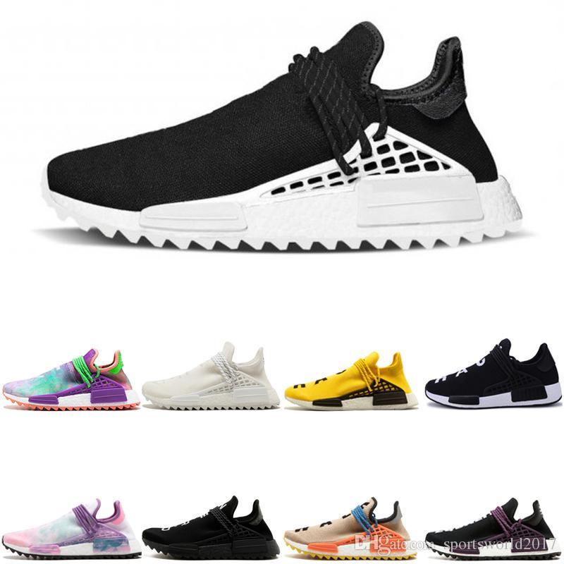 21aee09d7 2019 Wholesale Human Race Hu Solar Pack Running Shoes For Men Black White  Nerd Shoe Blank Cream NERD Williams Yellow Mens Sports Sneaker From ...