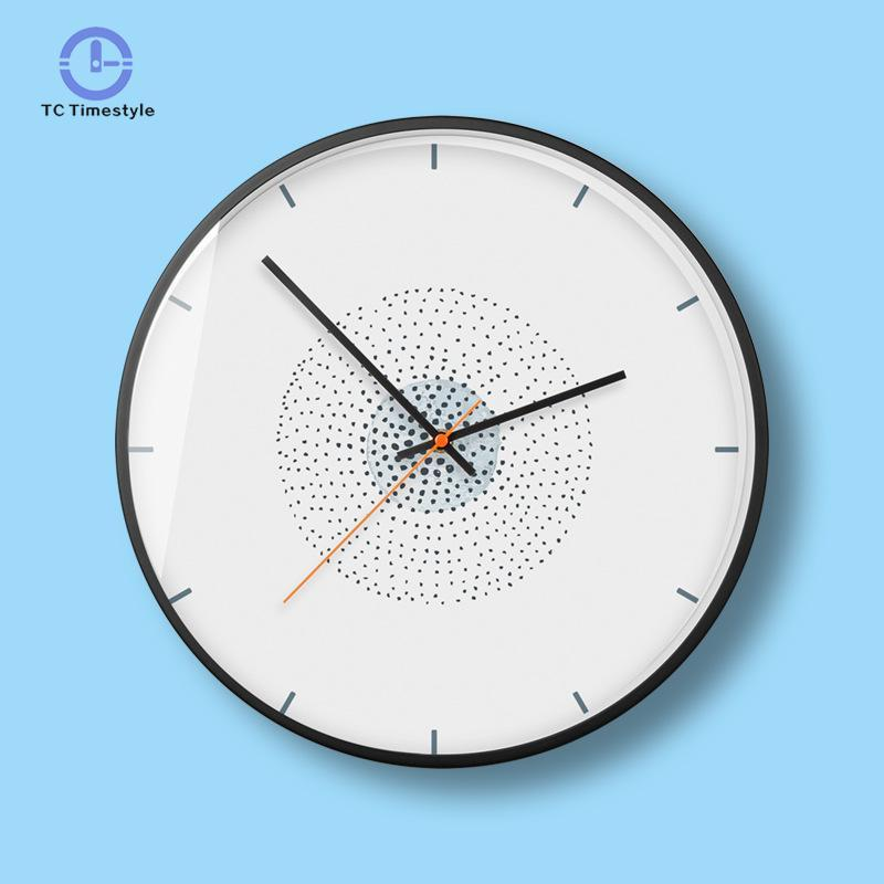 Japanese Style Wall Clock Modern Simple Living Room Decor Dot ...