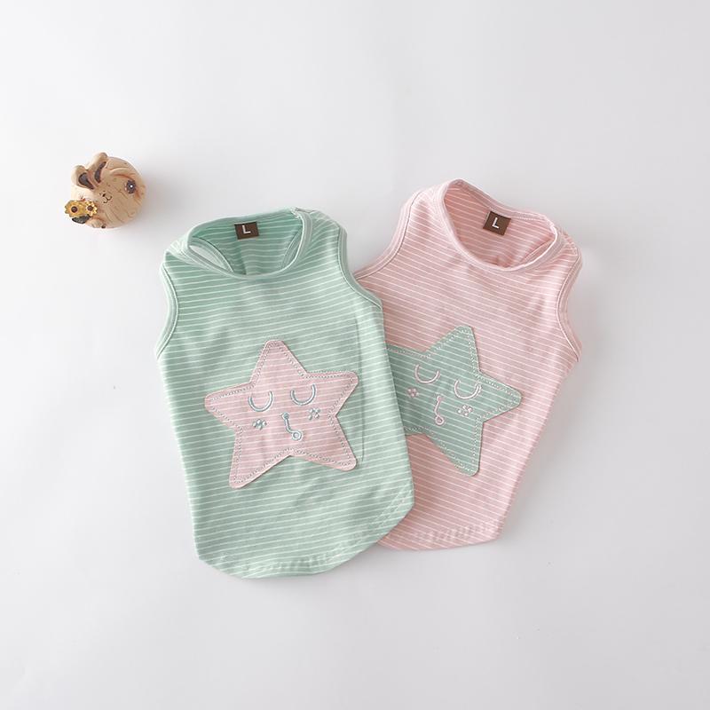 039f40b7ba6e 2019 Benmei Fashion Summer Dog Vest Striped Cotton Pet Shirt Puppy Teddy  Clothes Sweet Star Pattern Dog Tank Top From Hopestar168, $25.71 |  DHgate.Com