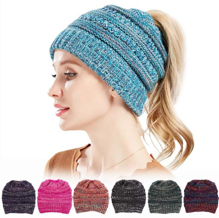 d711d28c3bd Ponytail Beanie Lady Messy Bun Beanie Woman Winter Cap Knitted Warm Skullies  Outdoor Beanies OOA5908 Ponytail Beanie Messy Bun Beanie Knitted Beanie Hat  ...