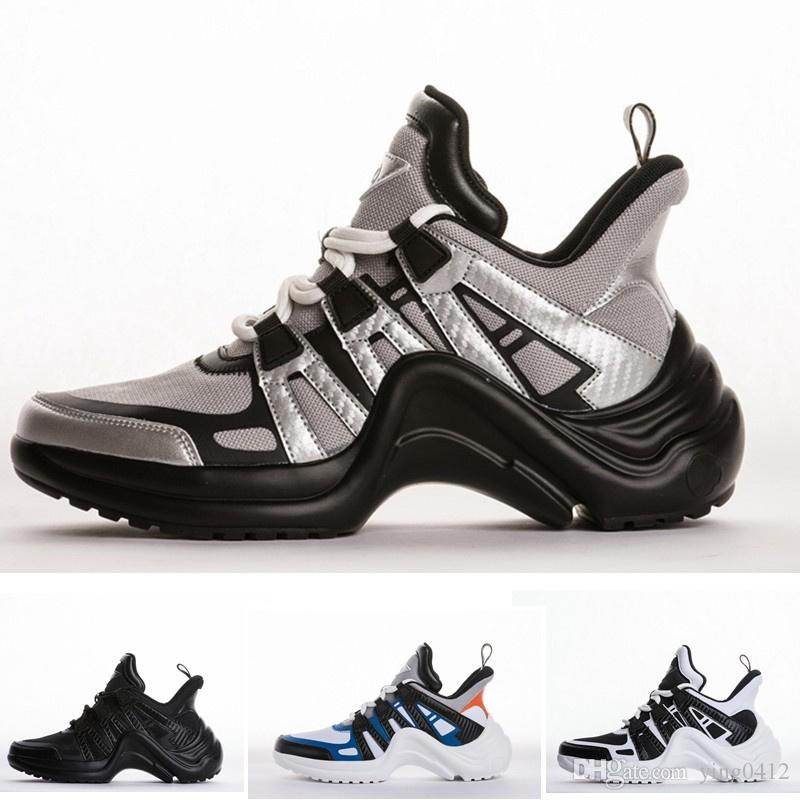 bf24714cd48788 Lace Up Flat Designer Archlight Men Casual Shoes White Black Silver Fashion  Women Sneakers Yellow White Blue Chunky Trainers Mens Loafers Buy Shoes  Online ...