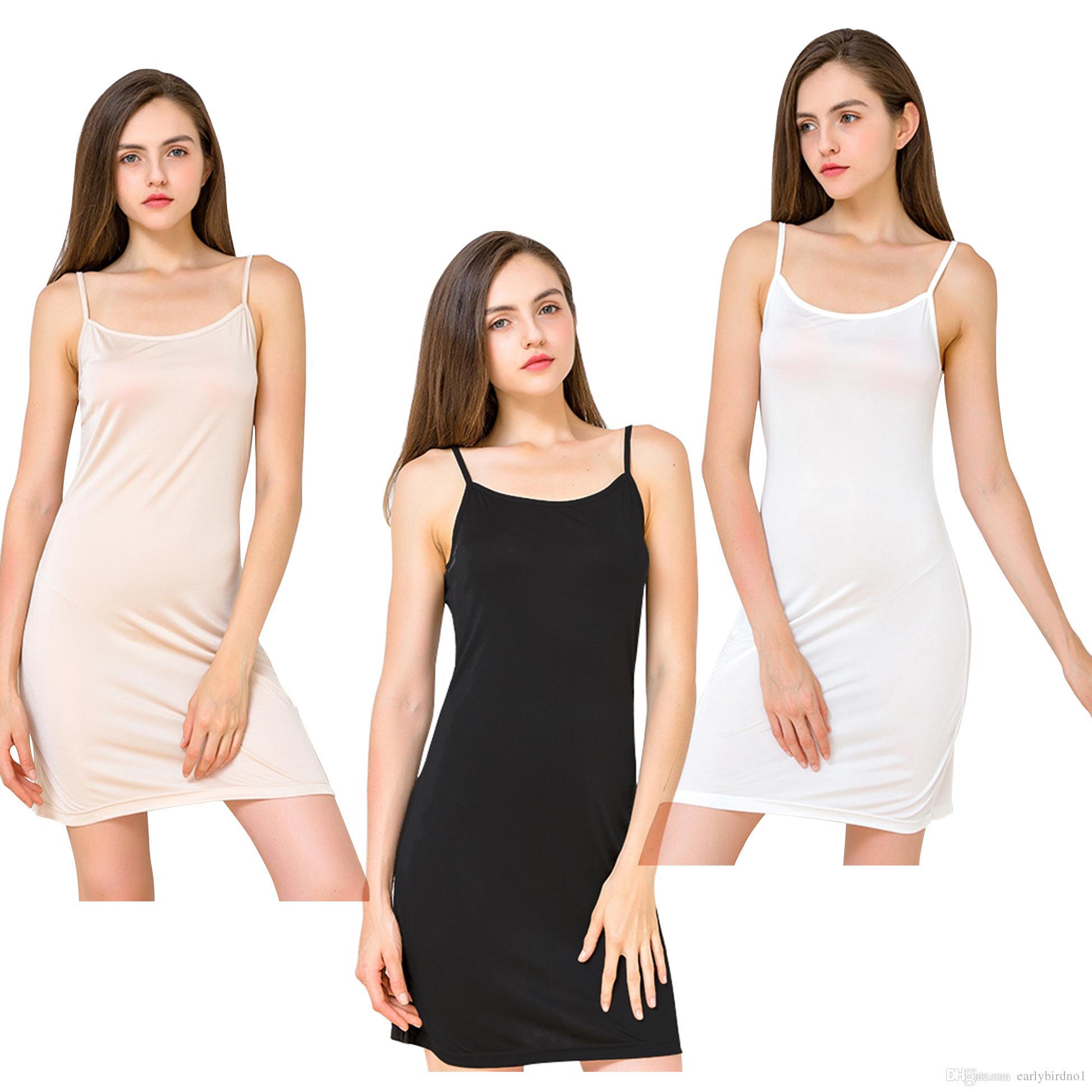 Compre Sexy Simple Womens Seda Ropa De Noche Lencería Camisones Vestido  Pijamas Mujer Solid Spaghetti Straps Camisón Ropa Interior Sleepshirts  CPA1463 A ... 8244a06ed81a