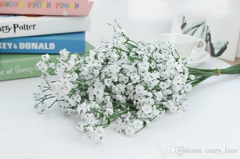 La respiración del bebé flores artificiales Artificial Gypsophila falso planta de la flor Hogar de seda decoración de la boda del partido del hogar