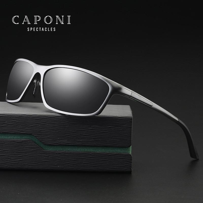 9cc5344d31 Compre CAPONI Gafas De Sol Polarizadas Para Hombres Gafas Protectoras De  Aluminio Gafas De Sol Para Hombres Lentes De Sol Hombre 2179 A $23.47 Del  Zaonoodle ...