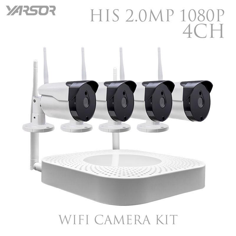 CCTV IP Camera Wireless WiFi 4CH HD 1080P NVR System IR Outdoor P2P ...