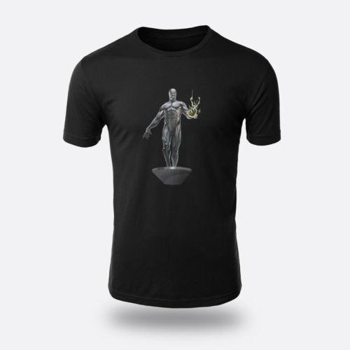 0205054210 Silver Surfer Superhero Black Men's Tees Size S-3XL T-shirts Different  Colours High Quality 100% Cotton Fashion T-Shirts top tee