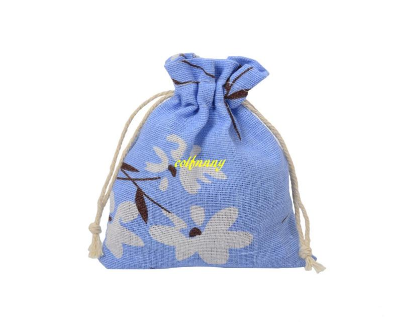 10*14cm Burlap Drawstring Pouch Twist cloth Sachet Jewelry Packing Bags Wedding Christmas Gift Bag