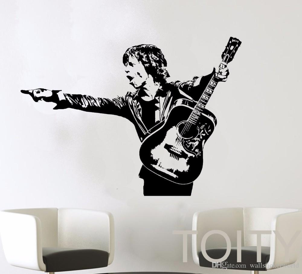 Mick Jagger Wall Decal Rock Roll Music Artist Vinyl Sticker Home Room Interior Decoration Retro Art Mural