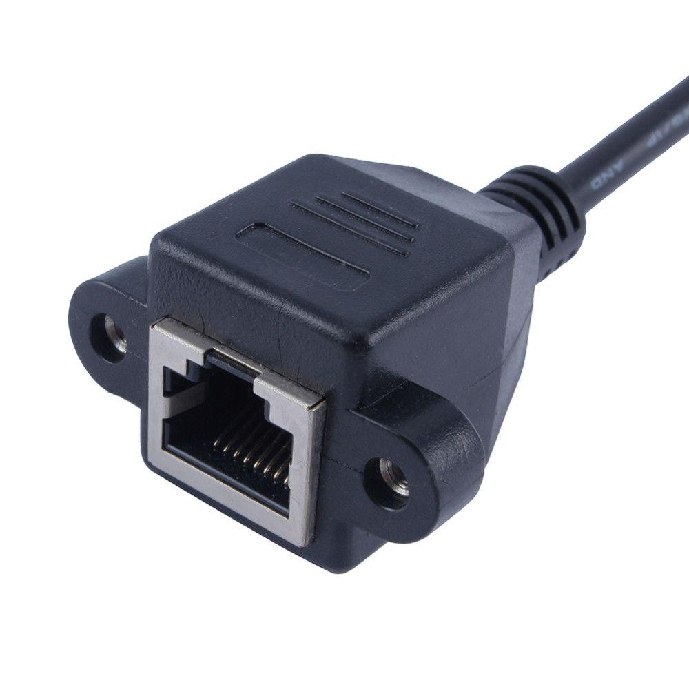 Ethernet Kabloları Uzatma Kablosu RJ45 Erkek Kadın Vida Paneli Dağı Ethernet LAN Network 30 / 100cm İsteğe Bağlı 100% Yeni Marka