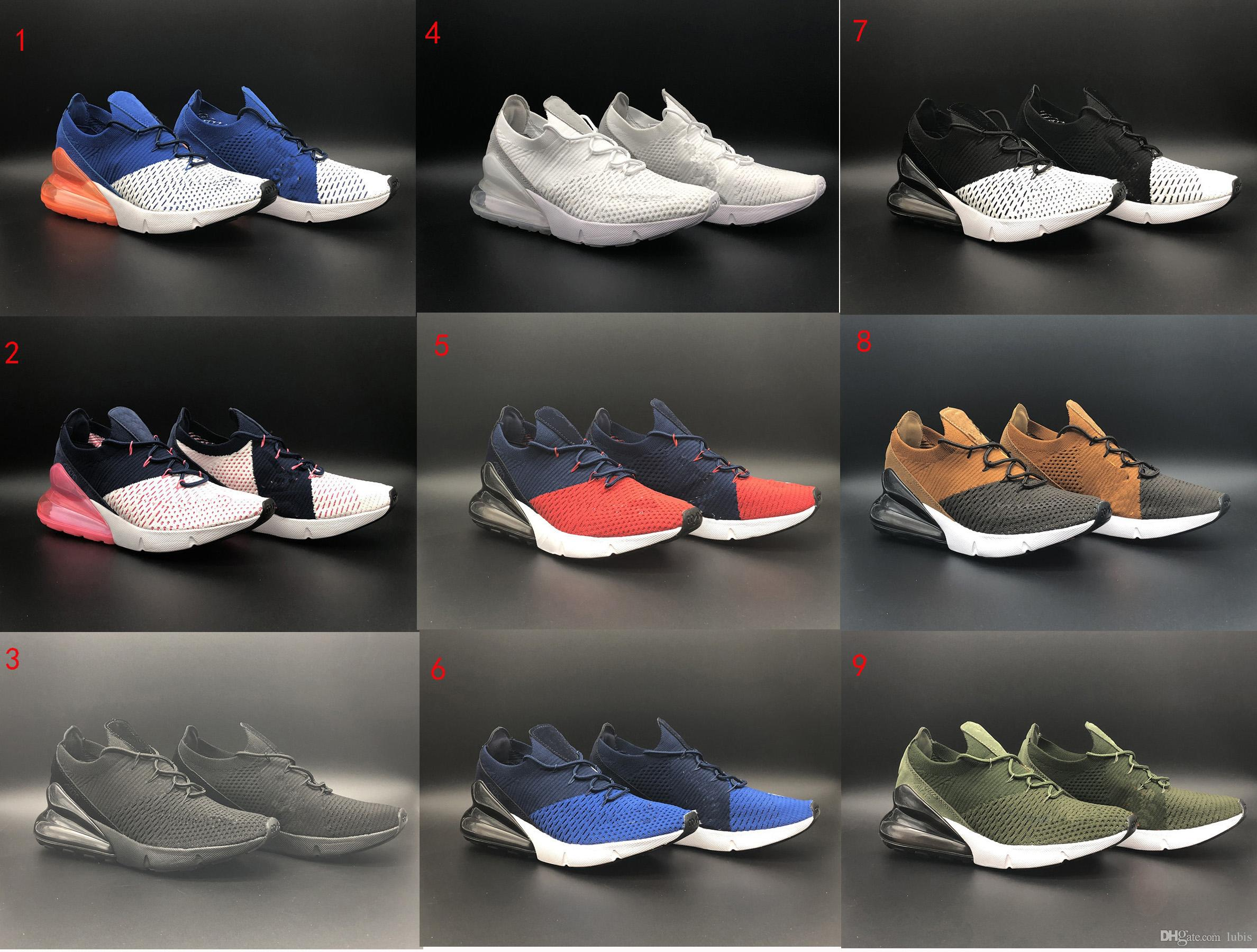 2018 top quality New 270 sport shoes men women walking shoes triple black 270 trainer shoes athletic sneakers size 36-45 18211 For sale online for cheap cheap online bXl96qhtH